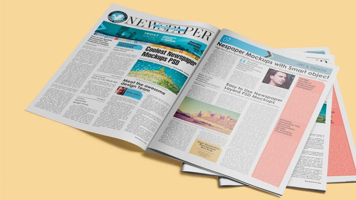 Free Newspaper Presentation Mock-up