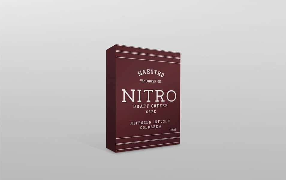 Free PSD Nitro Powder Box Packaging Mockup