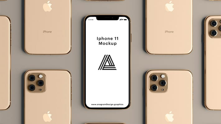 Gold iPhone 11 Mockup