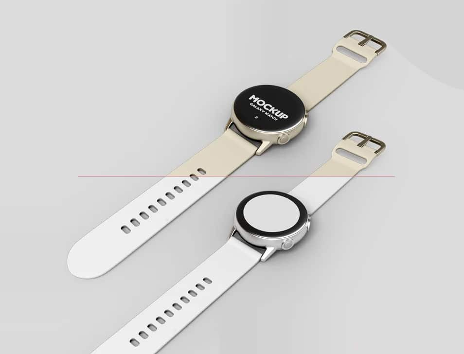 2 Free Galaxy Watch Mock-ups in PSD