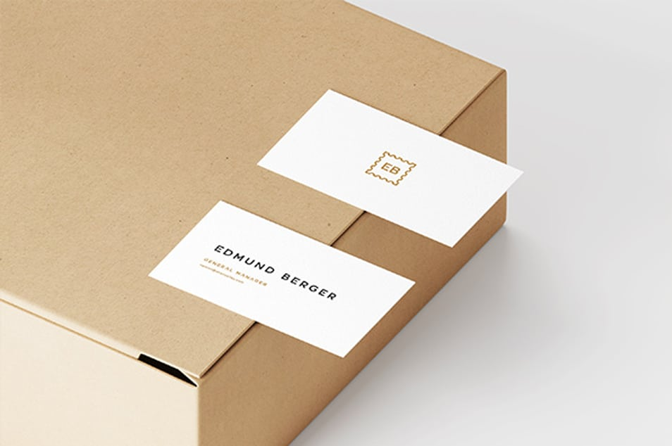 Business Cards On Box