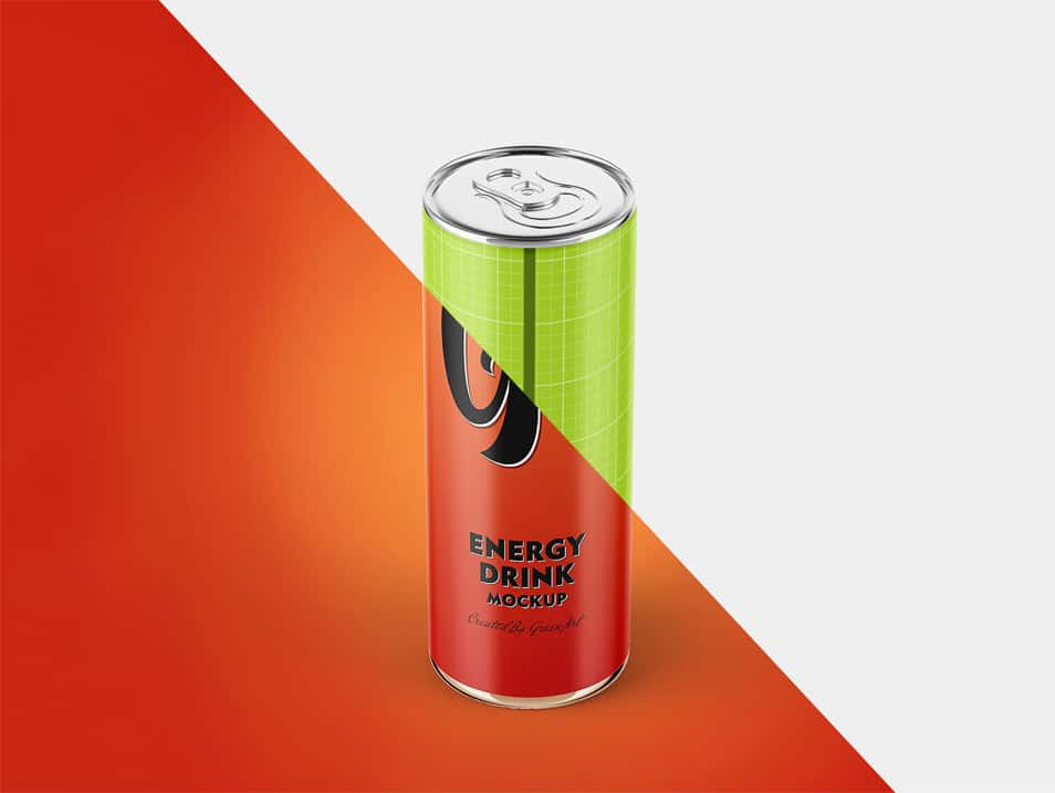 Energy Drink Mockup Set