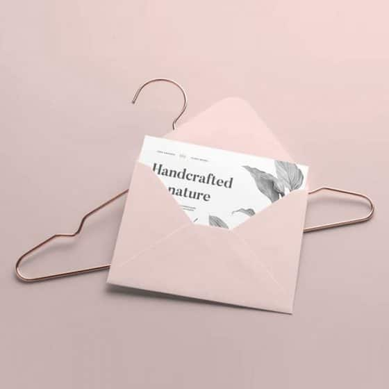 Envelope and Label Tag Mockup Template