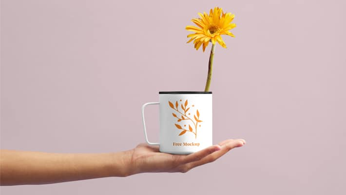 flower cup mockup » css author