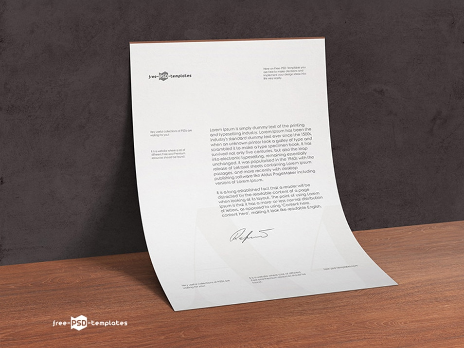 Free A4 Paper Mock-up in PSD