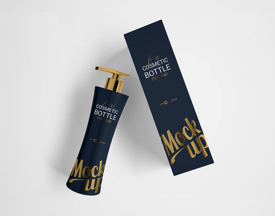 Free Cosmetic Bottle Mockup Set