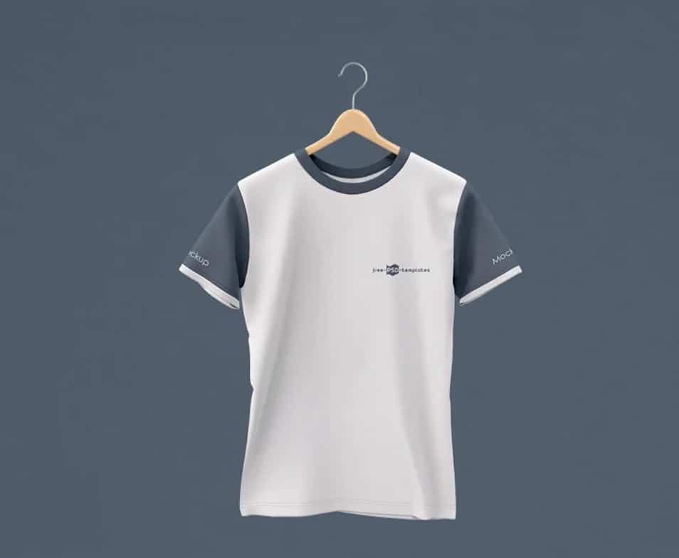 Free Hanging T-Shirt Mock-up in PSD