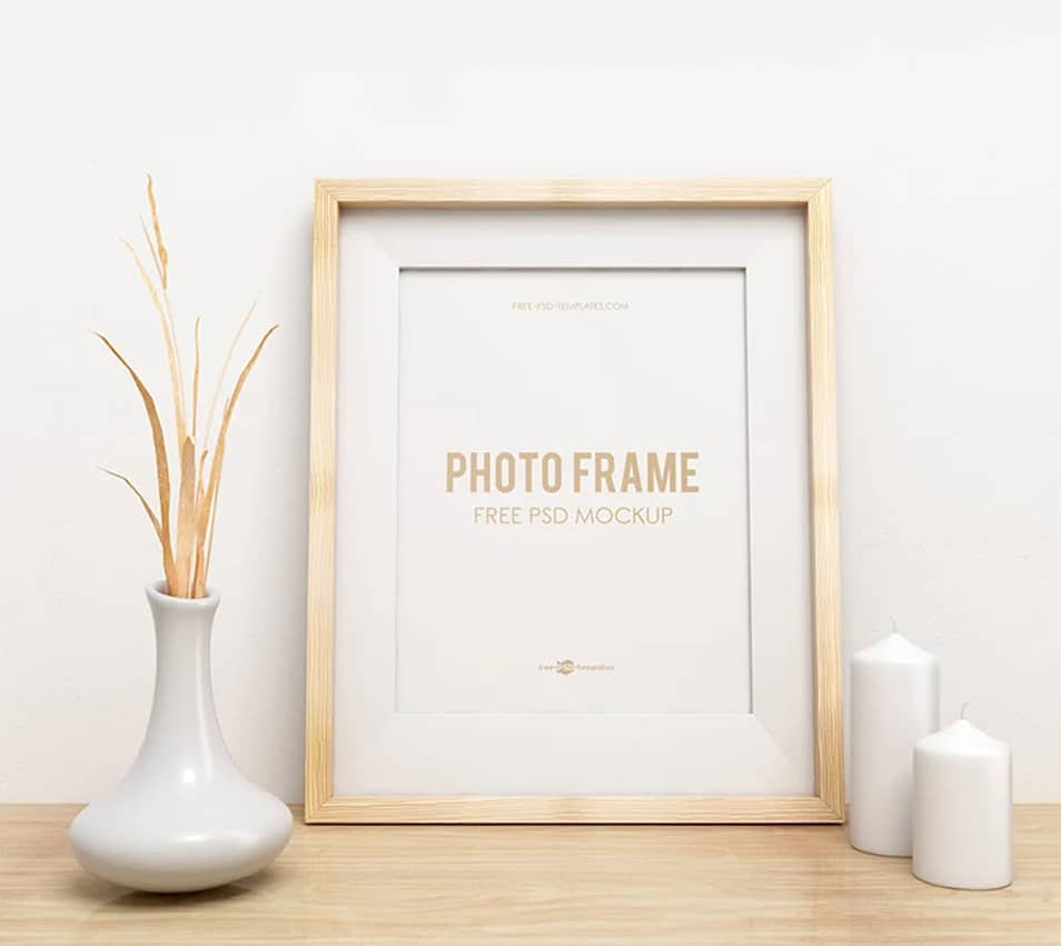 Free Photo Frame Mock-up in PSD