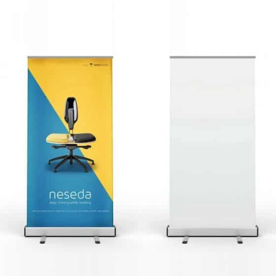 Free Stand Roll-up Banner Mockup