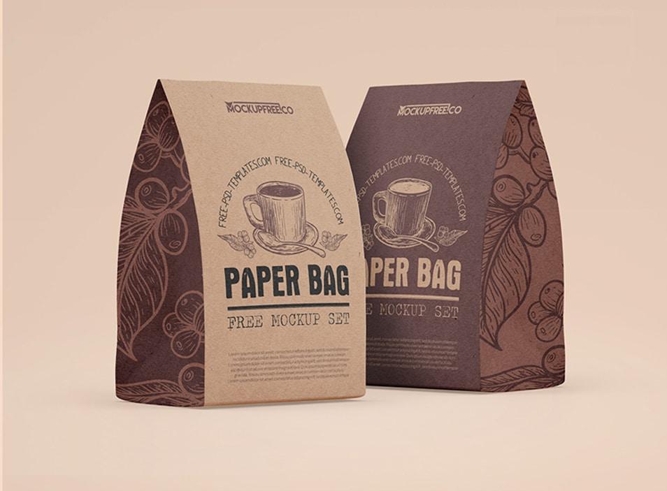 kraft paper bag mockup 3 free psd mockups » css author