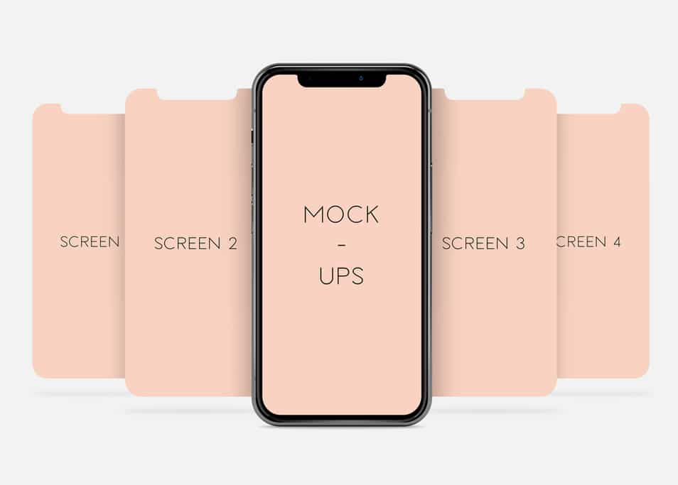 iPhone X Screen Mock-Up
