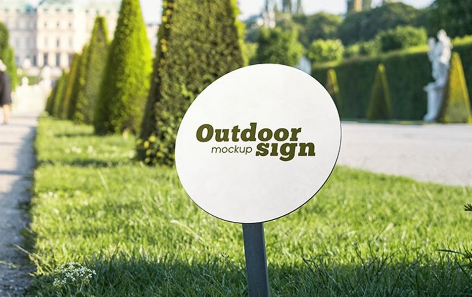 Free Outdoor Sign MockUps