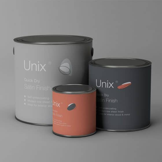 3 Sizes Metal Paint Buckets Mockup