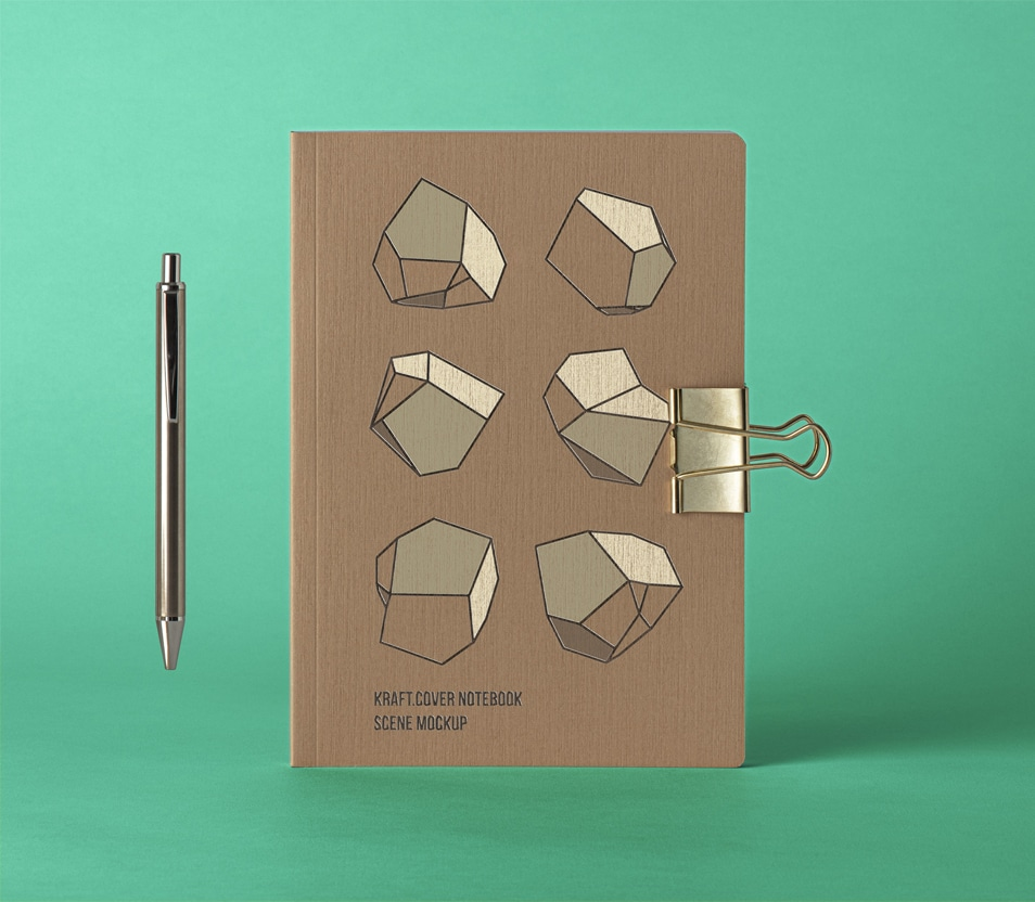 Cover Kraft PSD Notebook Mockup