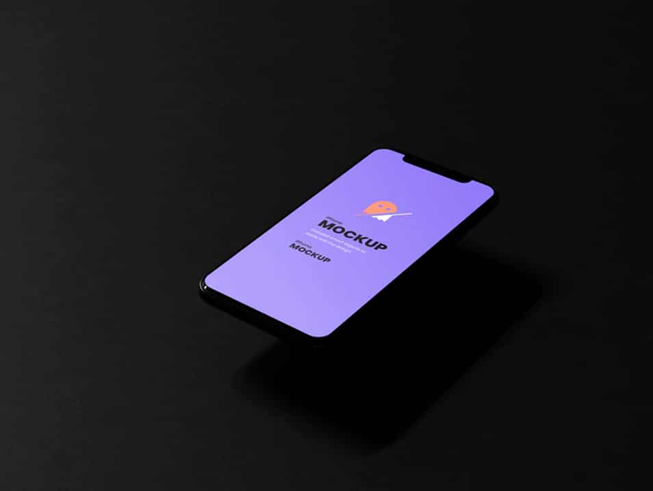 Dark iPhone PSD Mockup