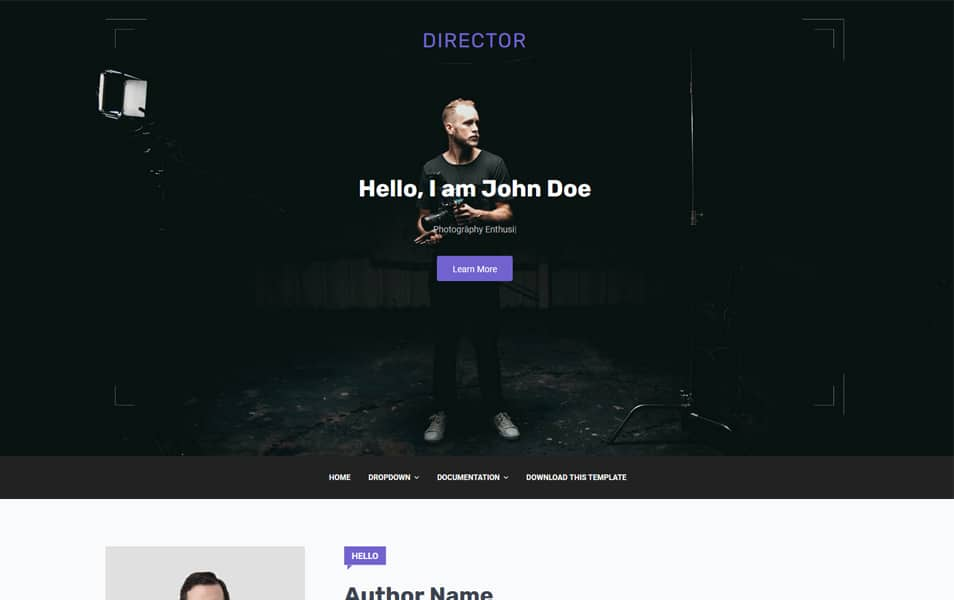 Director Responsive Blogger Template