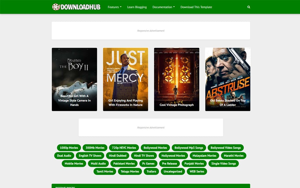 Download Hub Responsive Blogger Template