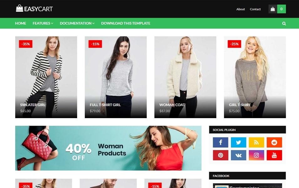 EasyCart Responsive Blogger Template