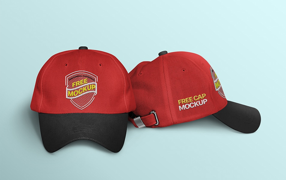Free Cap Mockup with Embroidery Effect