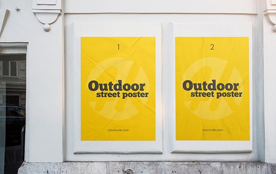 Free Outdoor Street Poster MockUp