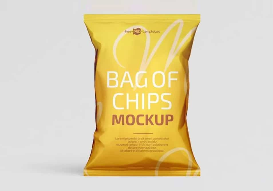 Free PSD Bag of Chips Mockup Template