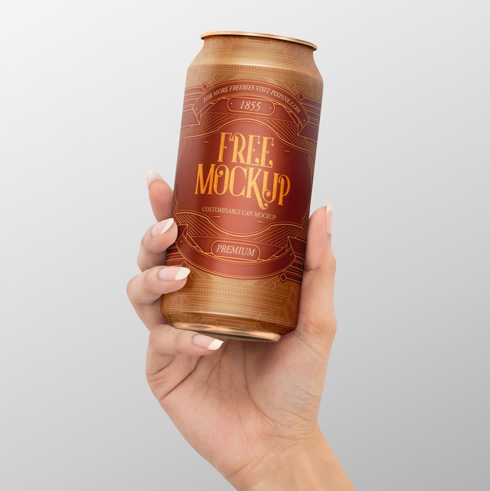 Free Realistic Can Mockup
