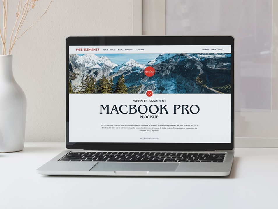 Free Website Branding MacBook Pro Mockup