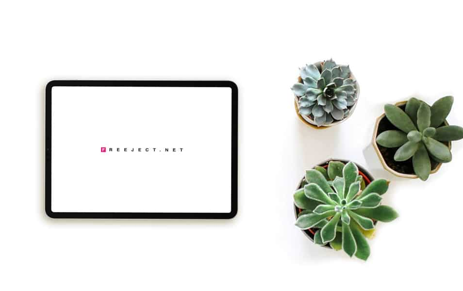 iPad & Plant Mock-Up Template PSD