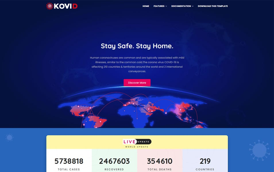 Kovid Responsive Blogger Template