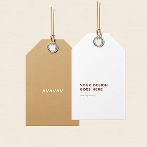 Label Tags Mockup