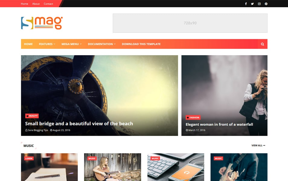 Smag Responsive Blogger Template
