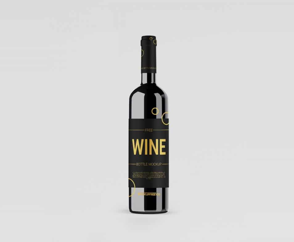 Wine Bottle Free PSD Mockups