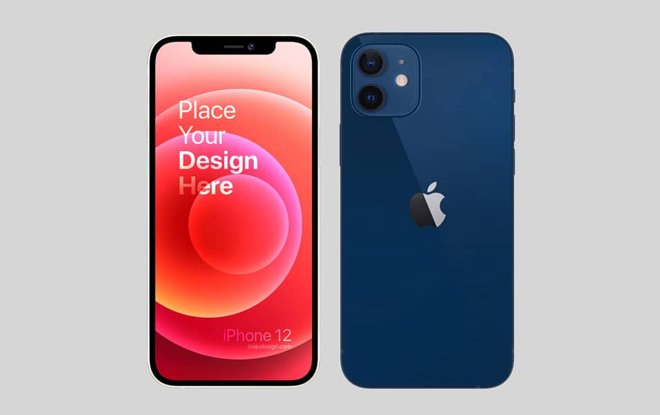iPhone 12 Mockup FREE PSD