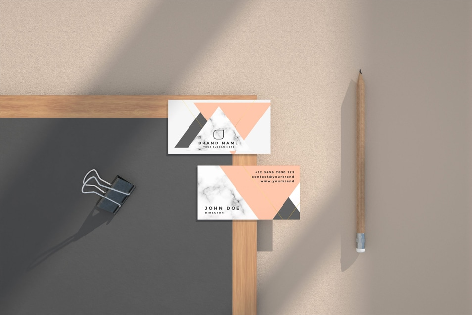 Business Card Free Mockup Kit