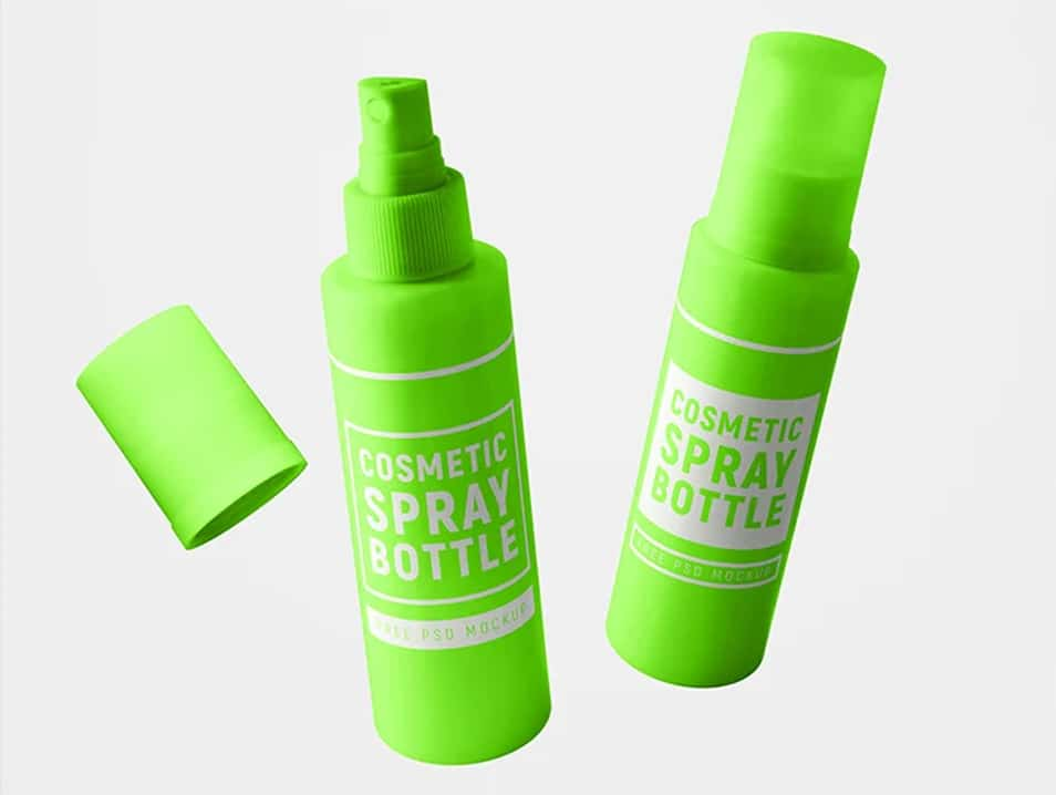 Download Free Cosmetic Spray Bottle Mockup Set » CSS Author Free Mockups