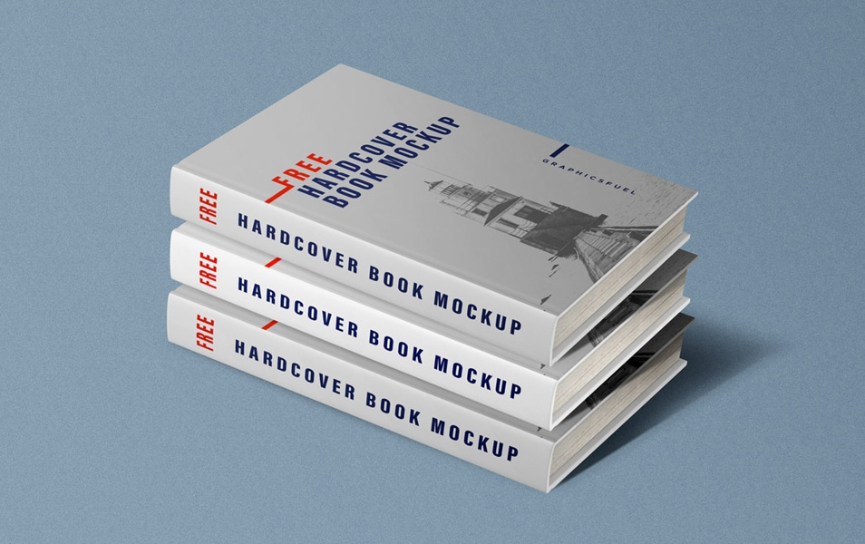 Free Hardcover Book Mockups