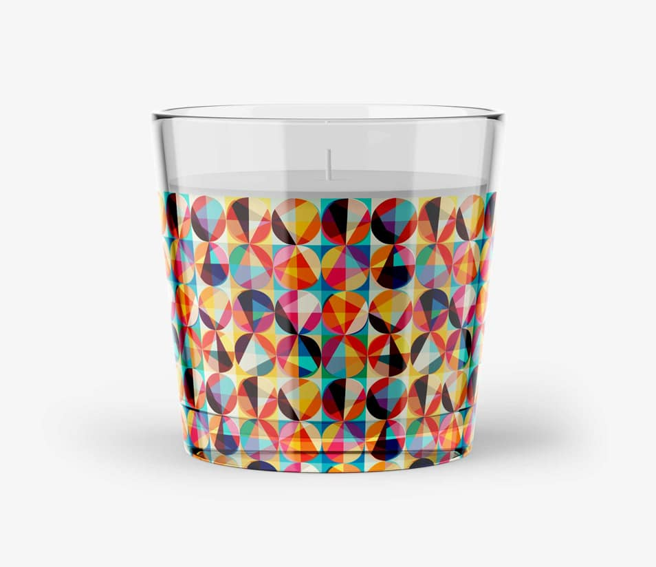 Free PSD Glass Candle Artwork Mock-up
