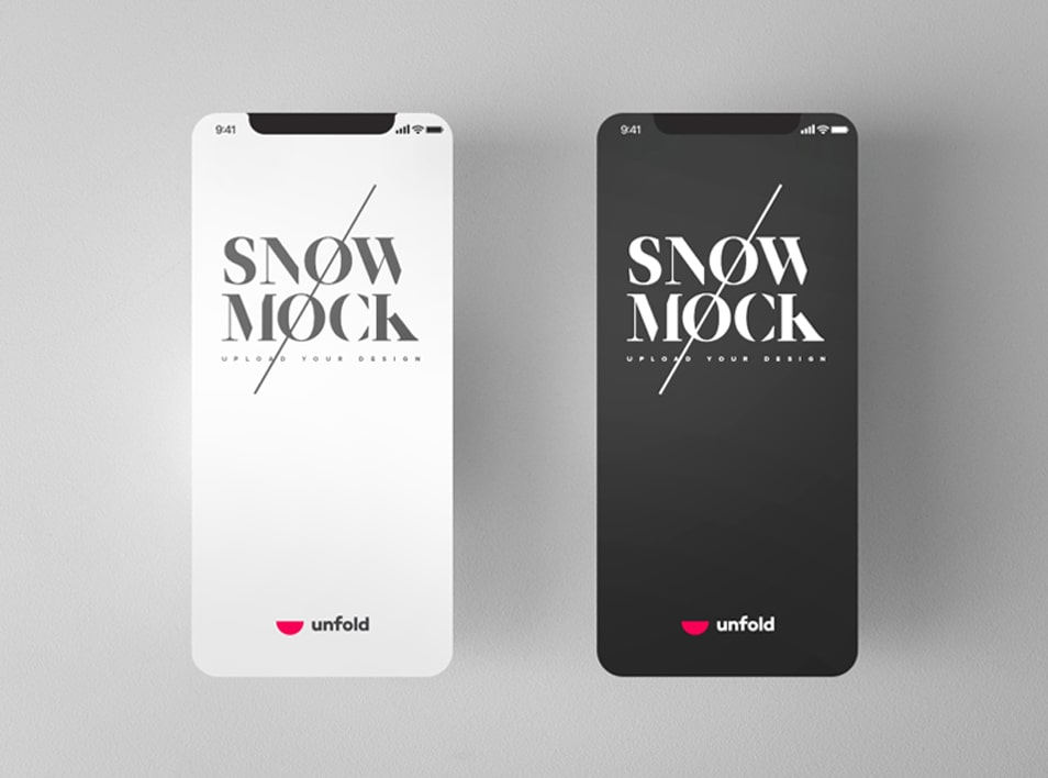 Free Snow iPhone X Mockups with 3 Different Perspective