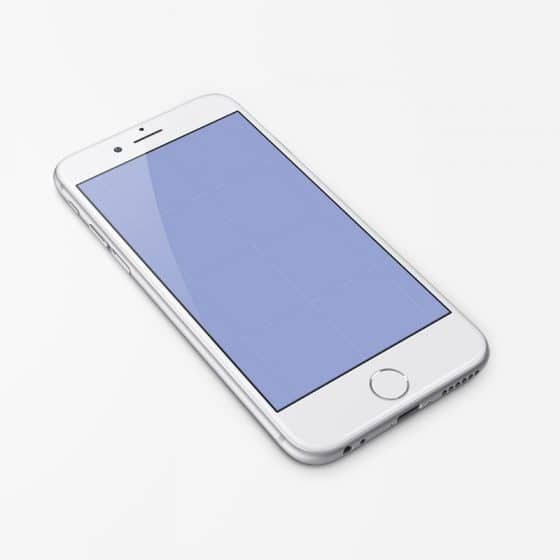Free iPhone 6 Mockup PSD Template