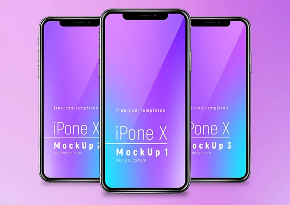 Free iPhone X Mockup Set