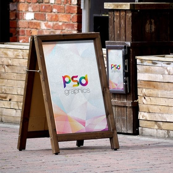 Roadside Sandwich Display Board Mockup