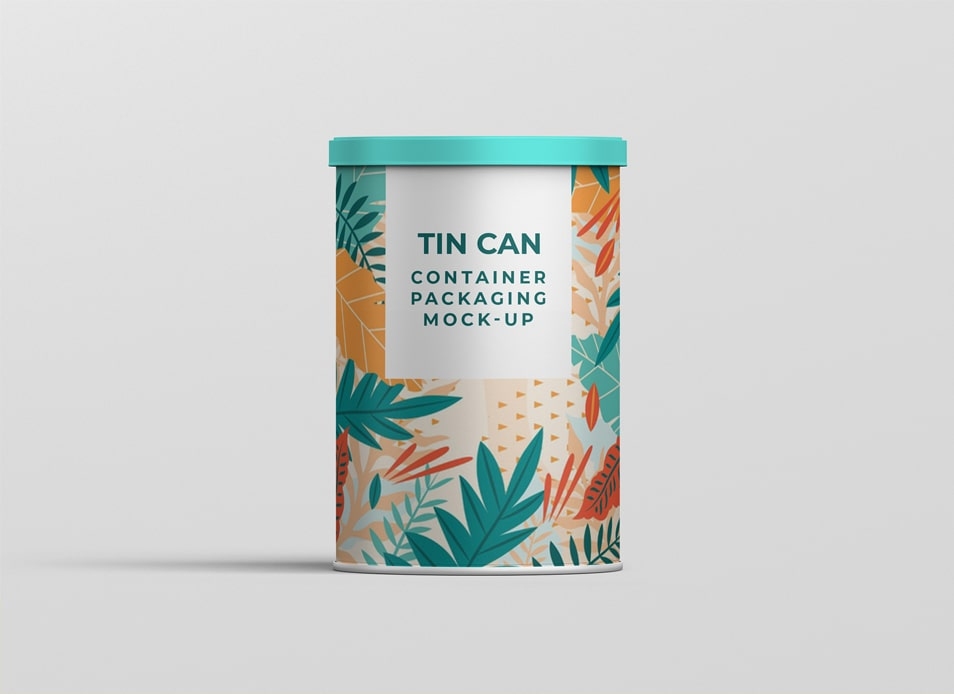 Tin Can Container Mock-up