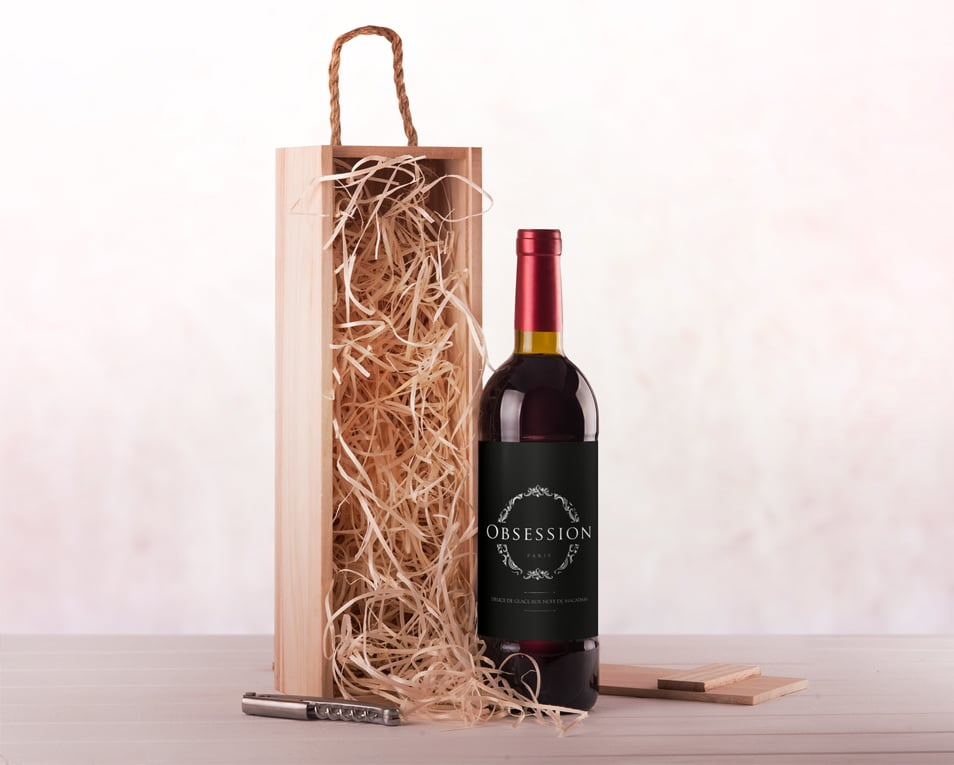 Wine Packaging Label Mockup