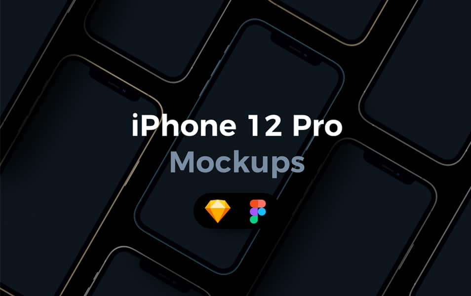 iPhone 12 Pro Mockups for Figma