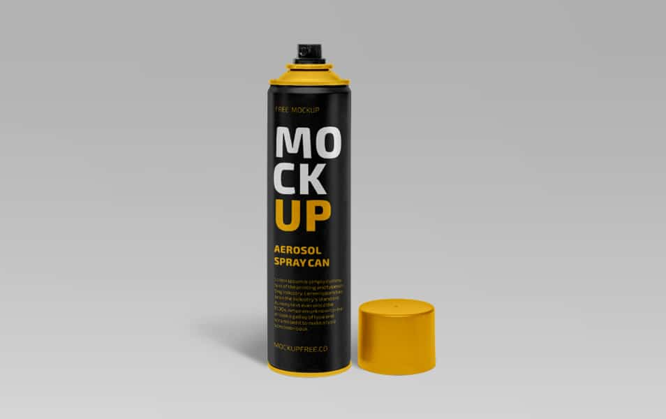 Aerosol Spray Can Free PSD Mockup