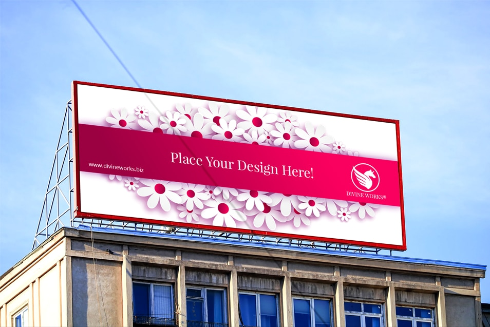 Building Billboard Mockup PSD