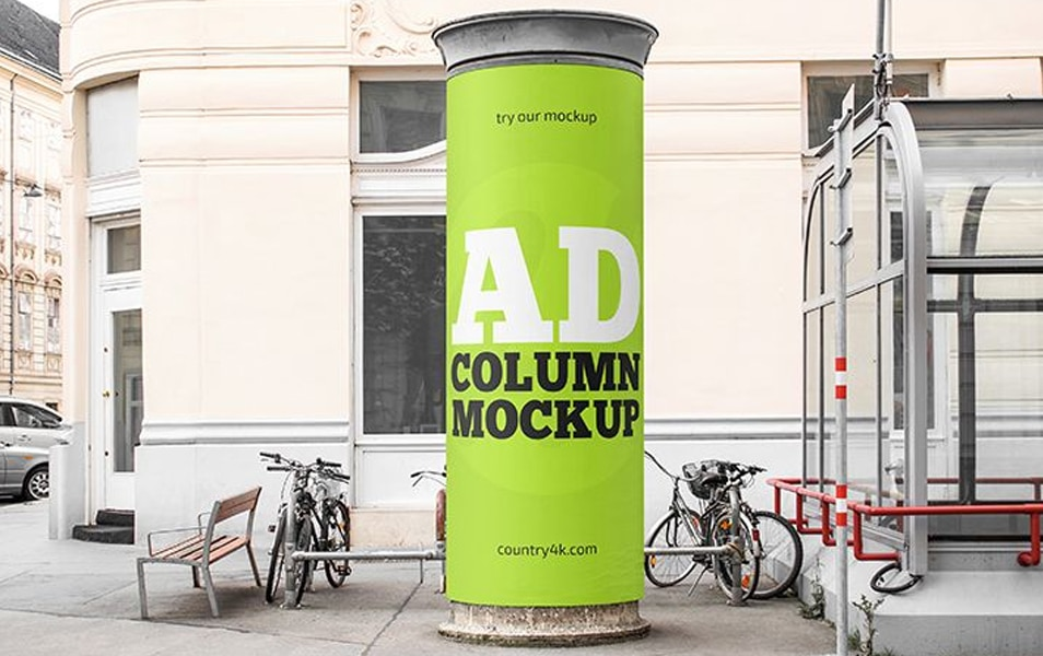 Free Advertising Column MockUp