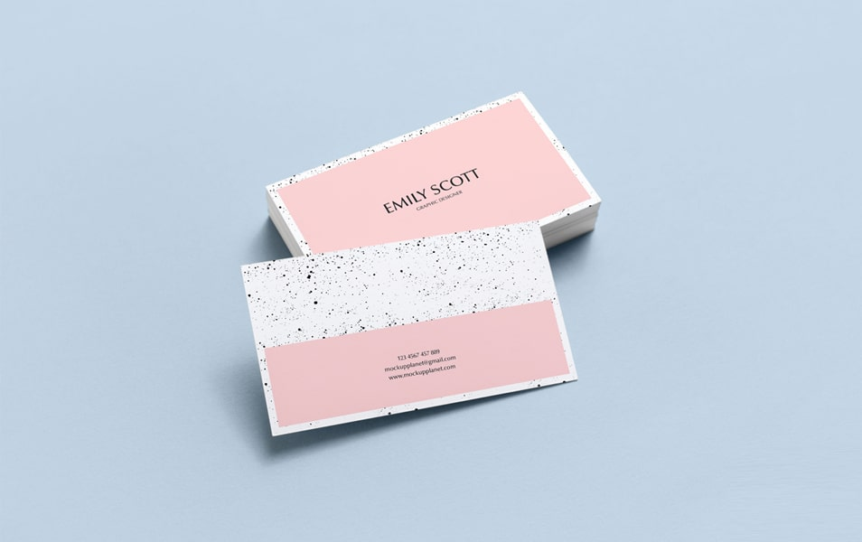 Free Brand Business Card Mockup PSD