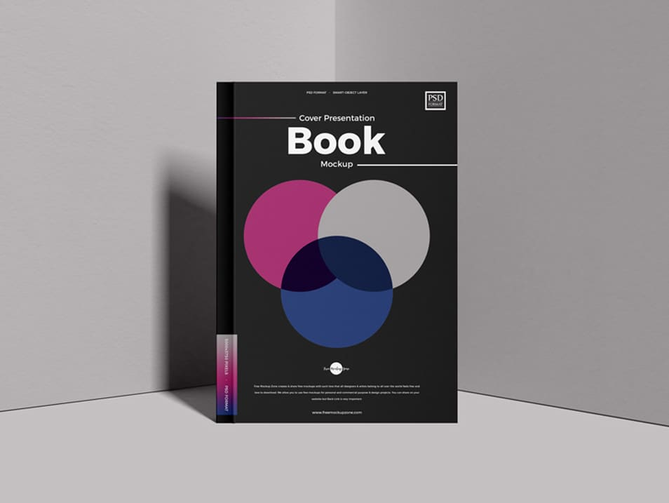 Free Cover Presentation PSD Book Mockup
