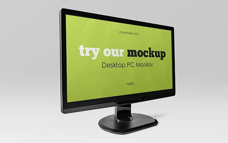 Free Desktop PC Monitor Mockups